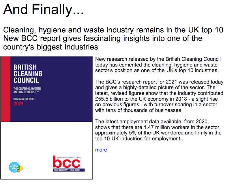 Advert: https://www.thecleanzine.com/pages/19930/cleaning_hygiene_and_waste_industry_remains_in_the_uk_top_10_new_bcc_report_gives_fascinating_insights_into_one_of_the_countrys_biggest_industries/