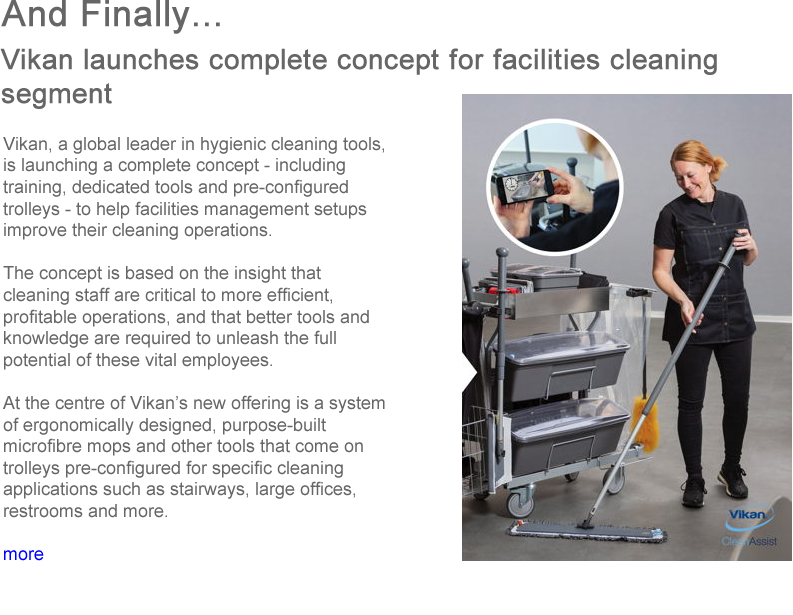 Advert: https://www.thecleanzine.com/pages/17809/vikan_launches_complete_concept_for_facilities_cleaning_segment/