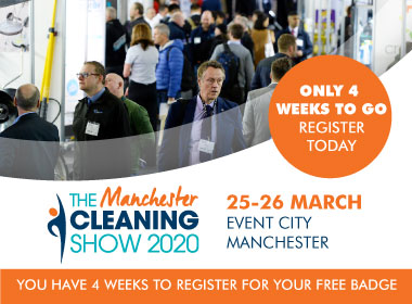 Advert: https://cleaningshow.co.uk/manchester/register-now?utm_source=MCS20+&utm_medium=Online&utm_content=Cleanzine&utm_campaign=Cleanzine+newsletter+banner+