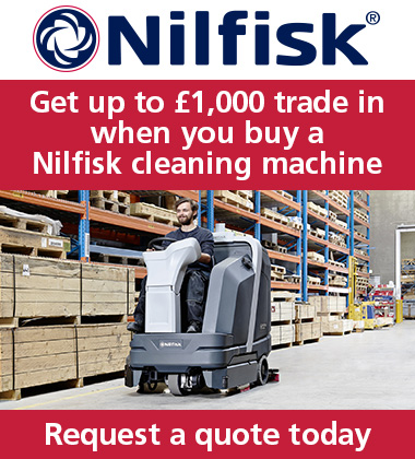 Advert: https://www.nilfisk.com/en-gb/campaigns/trade-in-campaign/Pages/Trade-in-1000.aspx?utm_campaign=Cleanzine-Trade-in-banner&utm_source=Display&utm_medium=Banner